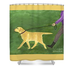Her Dog Took Her Everywhere Shower Curtain