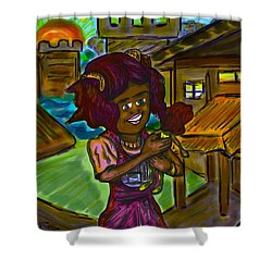 Her Doll Land Shower Curtain