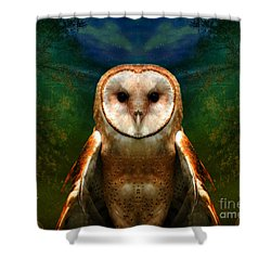 Her Memory Enshrouds My Heart   Shower Curtain