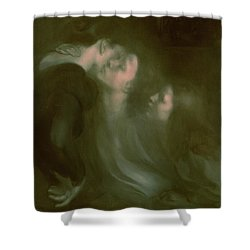 Her Mother's Kiss Shower Curtain
