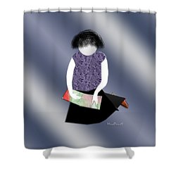 Her Picture Book Shower Curtain