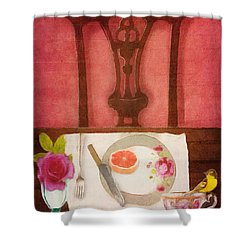 Her Place At The Table Shower Curtain by Lisa Noneman