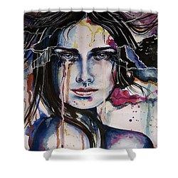 Her Sacrifice Shower Curtain by Geni Gorani