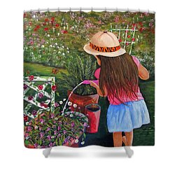 Her Secret Garden Shower Curtain