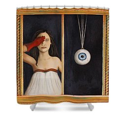Her Wandering Eye Shower Curtain by Leah Saulnier The Painting Maniac