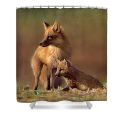 Her Watchful Eye Shower Curtain