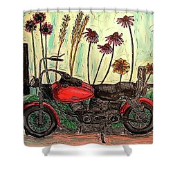 Her Wild Things  Shower Curtain