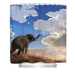 Shower Curtain featuring the digital art Heralding The Dawn by Daniel Eskridge