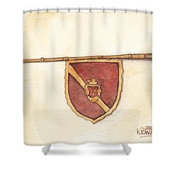 Heraldry Trumpet Shower Curtain