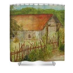 Shower Curtain featuring the painting Herb Garden by Vicki  Housel