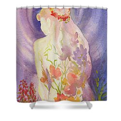 Herbal Goddess  Shower Curtain
