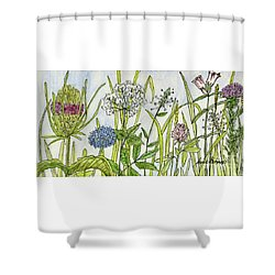 Herbs And Flowers Shower Curtain