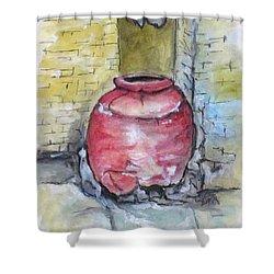 Herculaneum Amphora Pot Shower Curtain