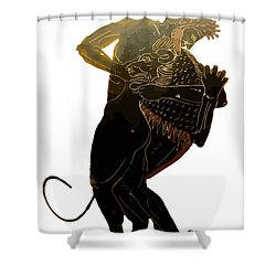 Hercules And The Nemean Lion Shower Curtain