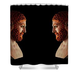 Shower Curtain featuring the mixed media Hercules - Gingers by Shawn Dall