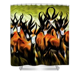 Herd Shower Curtain by Bruce Iorio