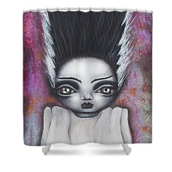 Here Comes The Bride Shower Curtain by Abril Andrade Griffith