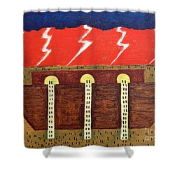 Here Comes The Flood Shower Curtain by Patrick J Murphy