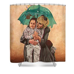 Here Comes The Rain - Aqui Viene La Lluvia Shower Curtain
