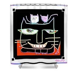Here,  Kitty Kitty Shower Curtain