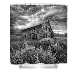 Here There Be Ghosts Shower Curtain