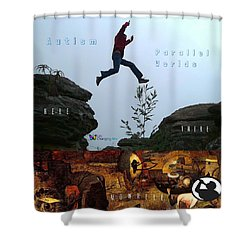 Here There Nowhere Shower Curtain