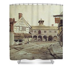 Hereford Shower Curtain by Cornelius Varley