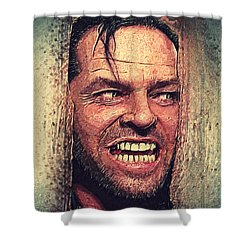 Here's Johnny - The Shining  Shower Curtain by Taylan Apukovska