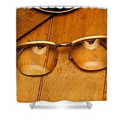 Here's Looking At You Shower Curtain by Paul  Wilford