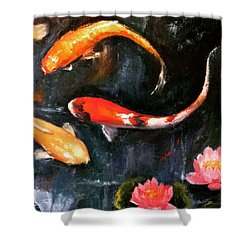 Here's Some Zen For The Day. :) #koi Shower Curtain