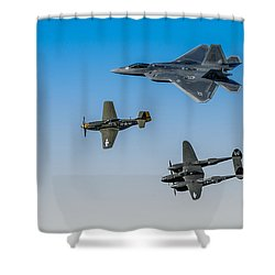 Heritage Flight Shower Curtain by Mark Goodman