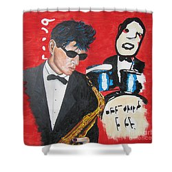 Herman Brood Jamming With His Art Shower Curtain