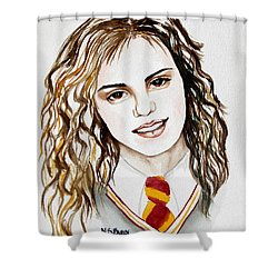 Hermoine Granger Shower Curtain by Maria Barry