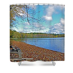 Fall Picnic In Maine Shower Curtain