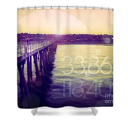 Hermosa Beach California Shower Curtain