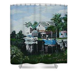 Hernando Beach Shower Curtain by Luis F Rodriguez