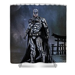 Shower Curtain featuring the painting Hero by Andrzej Szczerski