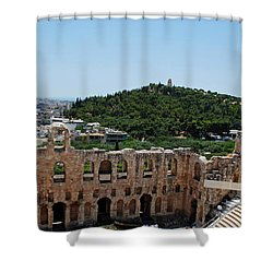 Herodeons Amphitheatre Shower Curtain