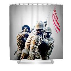 Heroes Shower Curtain by Julie Niemela