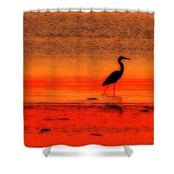 Heron At Dawn Shower Curtain