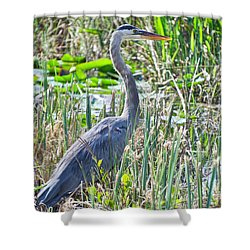 Heron By The Riverside Shower Curtain