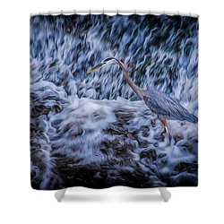 Shower Curtain featuring the photograph Heron Falls by Rikk Flohr