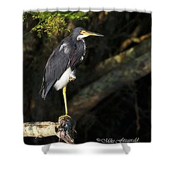 Heron In The Light Shower Curtain
