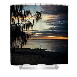 Heron Island Sunset  Shower Curtain