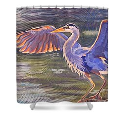 Heron Majesty Shower Curtain