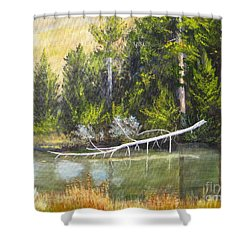 Heron Perch Shower Curtain