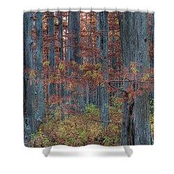 Heron Pond Twilight Shower Curtain by Steve Gadomski