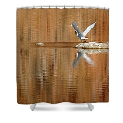 Heron Tapestry Shower Curtain