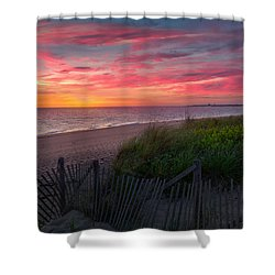 Herring Cove Beach Sunset Shower Curtain