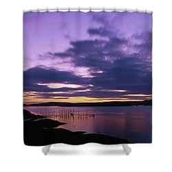 Herring Weir, Sunset Shower Curtain